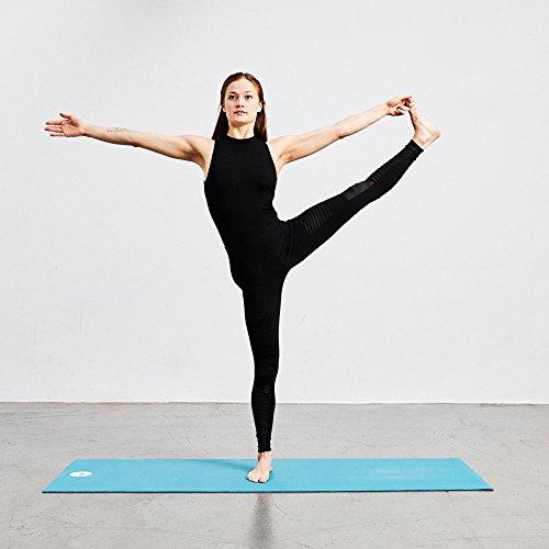 Lotuscrafts Naturkautschuk Yogamatte OEKO - rutschfest - 100% natürlich & ökologisch - Profi Matte für Yoga & Pilates - ideal für dynamische Yogastile [180 x 61 x 0,4 cm] Kornblume