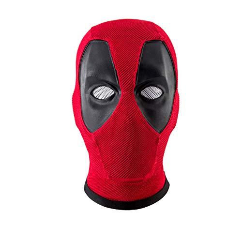 Deadpool Mask,DP Mask,Marvel Deadpool Mask Helmet Knitted Props Red -