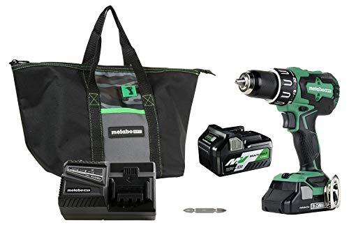 Metabo HPT DV18DBFL2T 18V Cordless Brushless Hammer Drill, Includes Two Batteries, 1-36V/18V Multivolt 5.0 Ah  1-18V Compact 3.0 Ah Battery, 1/2