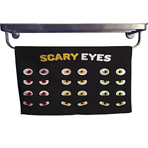 warmfamily Sports Ttowel Set of Scary Eyes Towel W 14