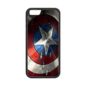 the Case Shop- Captain America Avengers Super Hero Hard Back Case Silicone Cover Skin for iPhone 6 4.7 Inch Case , i6xq-798