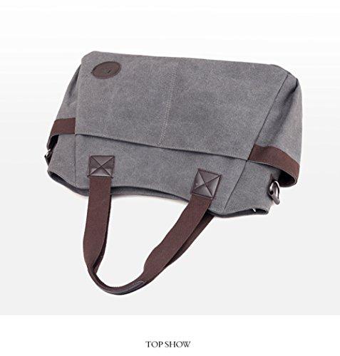 Large Mom Canvas Backpack Fashion Shoulder Travel FLHT Casual Bag Comfortable Bag Messenger Handbag Handbag Student Brown capacity Ladies 6xanqFY