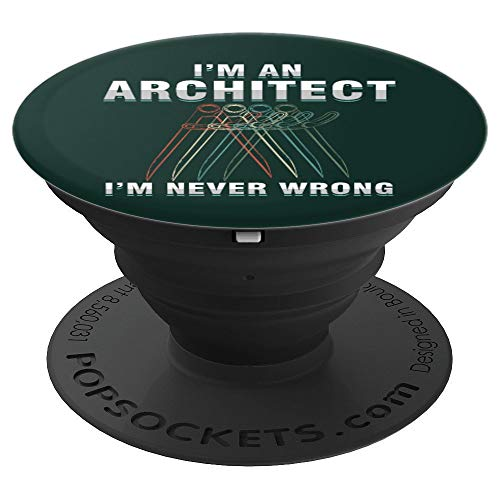 Architect Sketching Tools Architect Student Profession PopSockets Grip and Stand for Phones and Tablets
