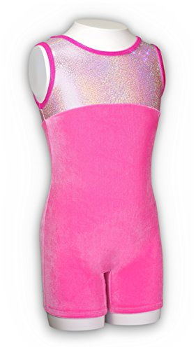 Pelle Gymnastics Biketard - Princess/Pink Velvet (Other Prints Available) - CS