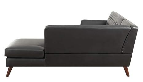 Amazon.com: Acme Essick II Sectional Sofa in Black PU ...
