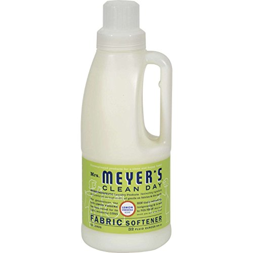 Mrs. Meyer's Clean Day Fabric Softener, Lemon Verbena, 32 (Lemon Verbena Fabric Softener)