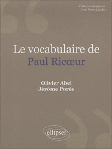 Le vocabulaire de Paul Ricoeur