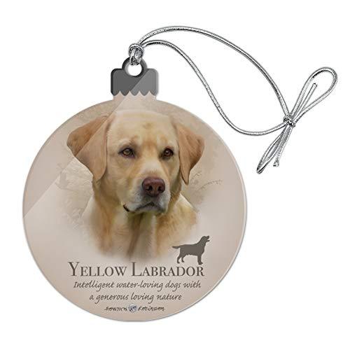 (GRAPHICS & MORE Yellow Labrador Retriever Dog Breed Acrylic Christmas Tree Holiday Ornament)