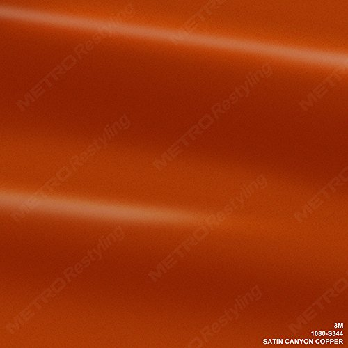 3M 1080 S344 Satin Canyon Copper 5Ft X 1Ft  5 Sq Ft  Car Wrap Vinyl Film