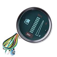 Qunqi DC12V Fuel Meter LED Digital Fuel Gauge For Car Motorcycle (12V)