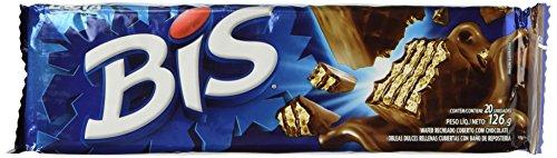 Chocolate Brazil - Milk Chocolate - Box w/ 20 Units - Chocolate ao Leite - Caixa c/ 20 unidades - Bis Lacta - Net weight 4.44 Oz(126g)
