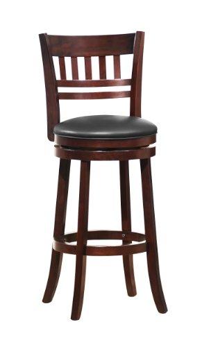 41w2dT9ghoL - Homelegance 1140E-29S Swivel Pub Height Chair/Stool, Dark Cherry