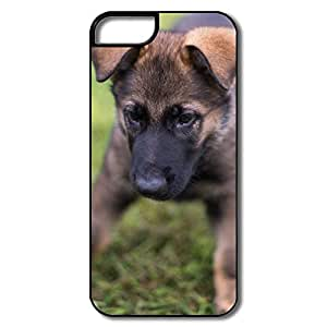 IPhone 5 Shell, German Shepherd Puppy Playing Protector For IPhone 5S Friendly Packaging