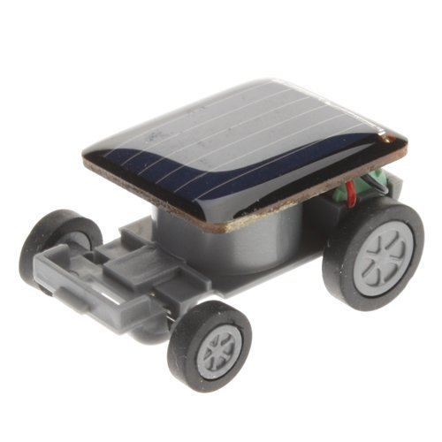 Qinmay Solar Car - World's Smallest Solar Powered Car - Educational Solar Powered Toy Car Solar Robot Kit