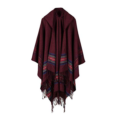 Byyong Womens Winter Casual Knitted Cashmere Poncho Capes Shawl Cardigans Sweater ()
