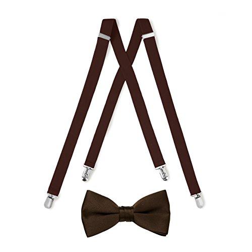 Suspender & Bow Tie Set (Adult, Chocolate Brown)