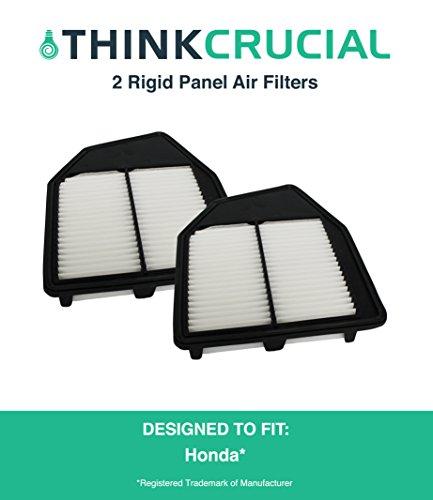 "2 Premium Rigid Panel Air Filter Fits Honda Accord & Honda Crosstour, Maximum Air Flow, 1.93"" x 8.67"" x 10.44"" in., Part # A36309 & # CA10467, by Think Crucial"