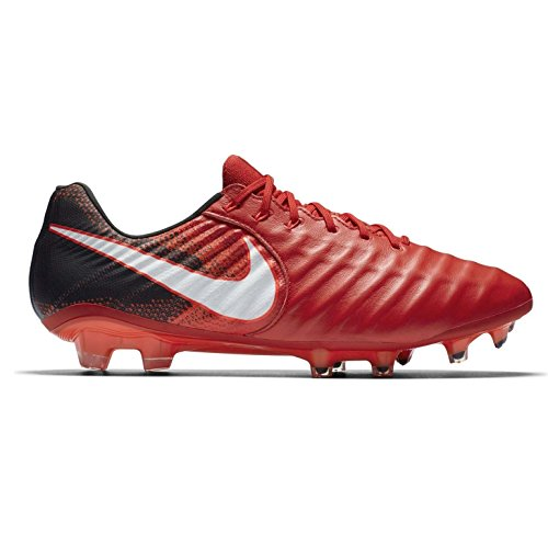 US EU red Black 7 Soccer Tiempo 41 UK Boots Mens VII White University FG 897752 Cleats 8 Nike 616 Legend Football 6TqFn7