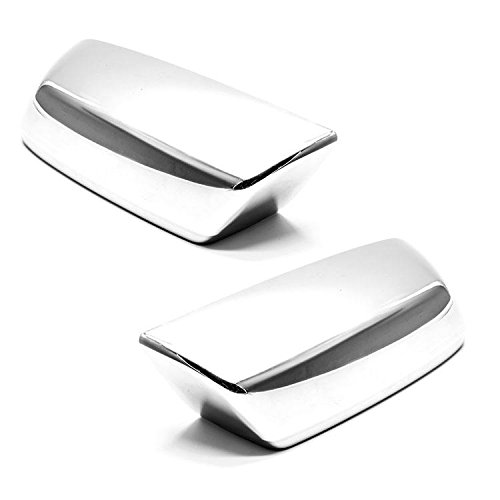 Sizver Chrome Door Mirror Cover For 2014-2018 Chevy Silverado 1500 ^Top Half^ Chevrolet Silverado Chrome Door