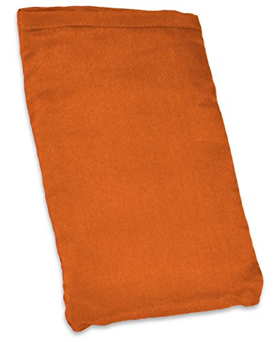 YogaAccessories Small Silk Eye Pillow (Unscented) - Orange by YogaAccessories