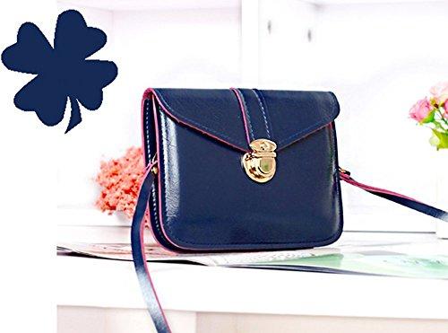 Women Handbag Shoulder Bags Tote Purse Frosted PU Leather Bag Blue - 7