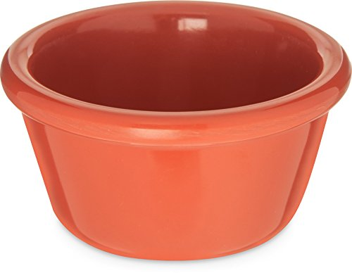 Trim Ramekin (Carlisle S28552 Melamine Smooth Ramekin, 4 oz. Capacity, Sunset Orange (Case of 48))