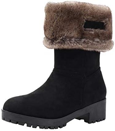 [Mifazhu] 人気 ファッション長靴 レディーススクエアヒールスノーブーツアンクルベアブーツ滑り止め因果ツーウェアブーツ 柔らかい 滑り止め 防水 保温 防寒 フェミニン 美脚効果最高 脚長 足細 通学 通勤