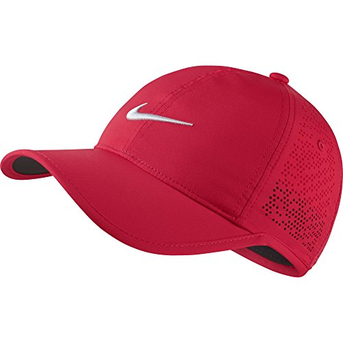 Nike Women's Perforated Golf Cap (Variety Of Colors Available) (Siren Red)