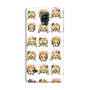 Cover It Up - Flower Monkey Stickers Galaxy Note 4Hard Case
