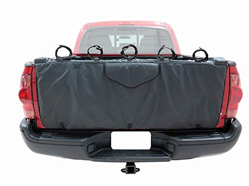 "HZYICH 54"" Truck Tailgate Pickup Pads Bike Tailgate Cover for Bicycle Rack with 5 Secure Bike Frame Straps"
