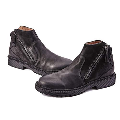 Slip Black Dealer Stivali Stivali da Pelle All'aperto con Campeggio On Fodera da Stivali Chelsea in di Sicurezza Uomo wq8AnSwT