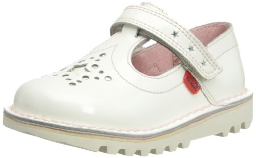 Kickers Kick T Star, Mary Jane fille, Blanc - Blanc, 29