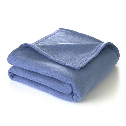 Blanket Fleece Martex Soft - Martex Super Soft Fleece Blanket - Full/Queen, Warm, Lightweight, Pet-Friendly, Throw for Home Bed, Sofa & Dorm - Slate Blue