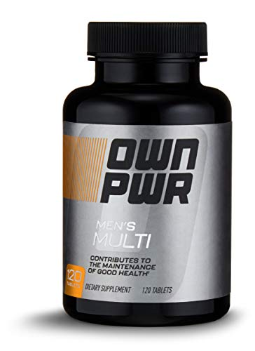 OWN PWR Men's Multivitamin, 120 Tablets, 2 Tablets per Serving (Power Male Tabs 120)