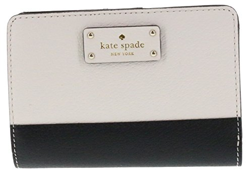 Kate Spade New York Tellie Grove Street Embossed Leather Wallet (Black/Cement)