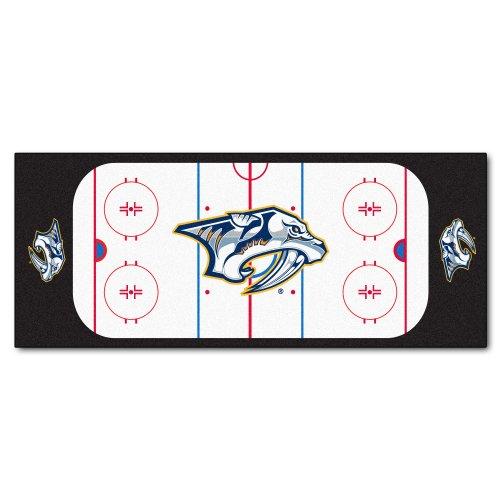 fan products of FANMATS NHL Nashville Predators Nylon Face Football Field Runner