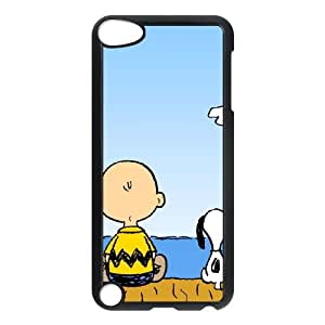 iPod Touch 5 Case Black Charlie Brown and Snoopy Goqn