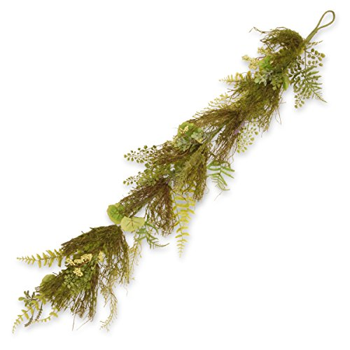 National Tree 45 Inch Garden Accents Fern and Lavender Garland (GAGL30-45GGL)