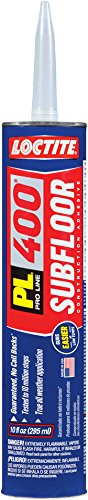 Loctite 1652275-12 PL 400 Subfloor and Deck VOC Construction Adhesive, 10 Ounce Cartridges, Case of 12, White