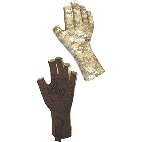 [Buff Adult Sport Series Water 2 Small/Medium Pixels Desert Gloves] (Pixel Gloves)