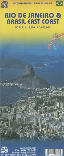 Rio De Janeiro & Brazil East Coast (International Travel Maps) by International Travel Maps and Books - Coast Map South Mall