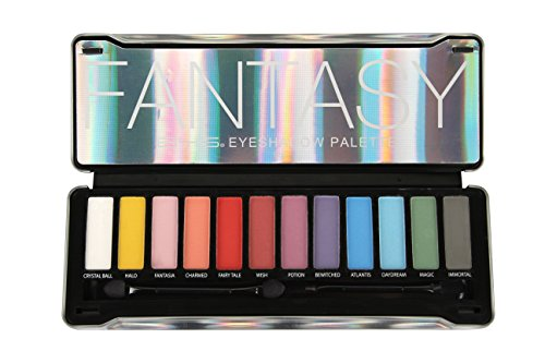 BYS Fantasy Eyeshadow Palette Tin with Mirror and Dual End Applicator 12 Shades