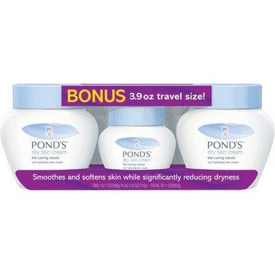 Ponds Dry Skin Cream, 10.1 Oz., 2 pk., with Bonus 3.9 Oz. Travel Size