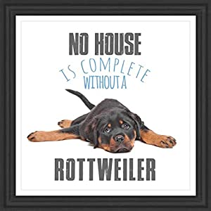 """Gifts for Rottweiler Lover   7x7"""" Tile Artwork   Quotes Decor for Dog Owners   Unique Art Print of Rottweilers   Present for Dog Lovers   Decorative Gift for Home   Perfect for Men & Women 1"""