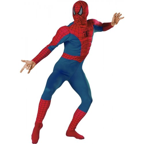 [The Amazing Spider-Man Muscle Chest Adult Costume] (Muscle Chest Spiderman Costumes)