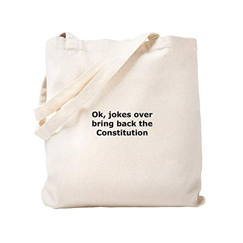 CafePress Bring Back The Constitution Natural Canvas Tote Bag, Cloth Shopping Bag