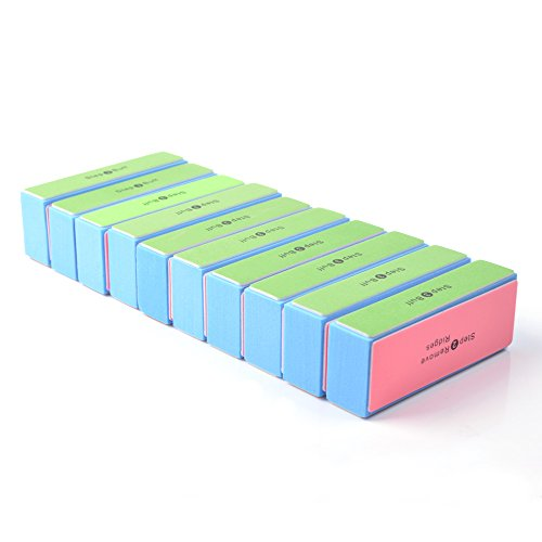 KLOUD City® 10 pcs 4 Way Colorful Nail Art Buffer Buffing Sanding Files Block Manicure Care DIY