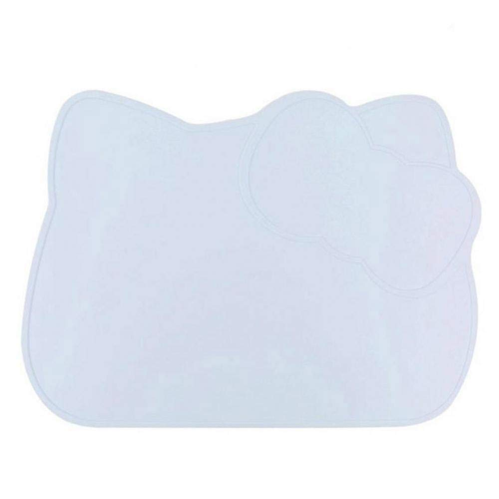 Cute Cartoon Silicone Mat Heat Resistant Dishes and Bowls Cushion Pad(Blue)