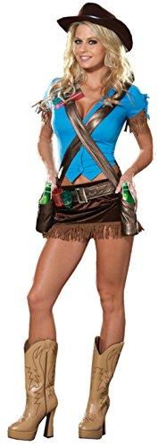 Dreamgirl Womens Saloon Girl Western Cowgirl Drink Belt Fancy Dress Sexy Costume, M (6-10) ()