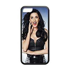 Creative Generic Custom Design American Popular Singer Katy Perry Case Cover for iPhone 5C TPU (Laser Technology)